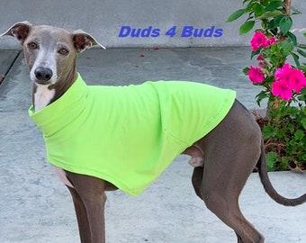 Italian Greyhound Clothing - Italy Greyhound - Dog Clothing - Soft Lime - Italian Greyhound Size
