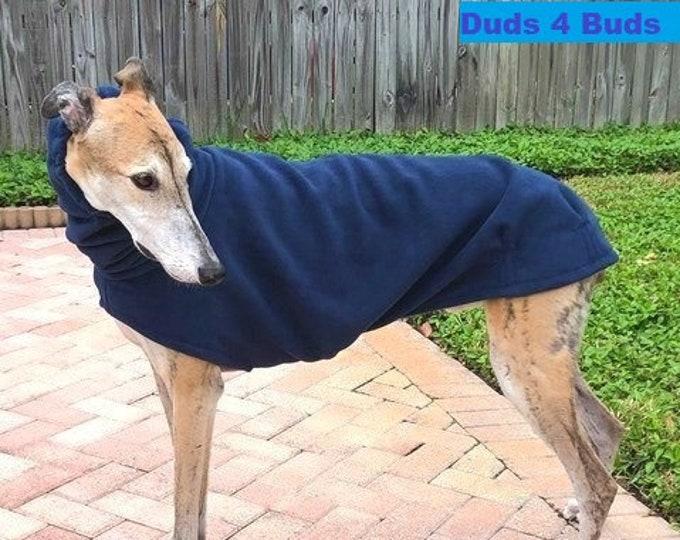 Greyhound Coat - Winter Coat For Greyhound - Dark Blue Cocoon -  Greyhound Sizes
