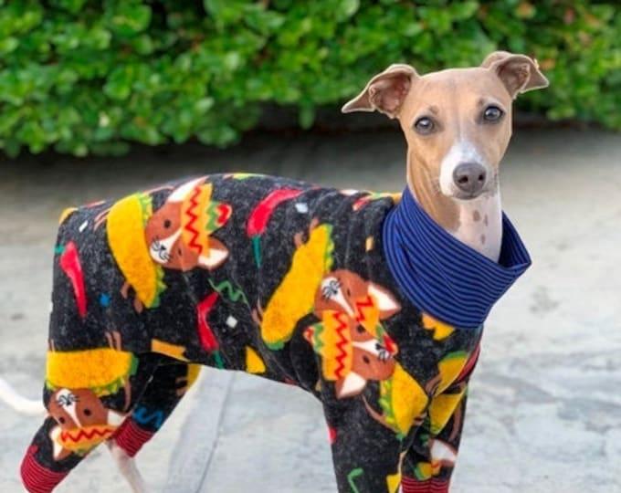 Italian Gryehound Clothing - Pajama For Dogs - Taco Dog - Italy Greyhound Clothing - Small Dog Clothes - Doy Dog Clothing -Onesie for Dog