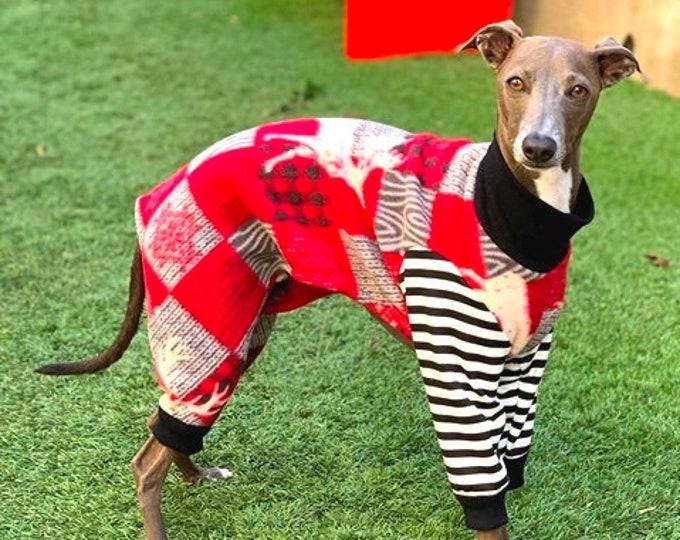 Pajama For Dog - Christmas Pajama For Dog - Moose PJ - Italian Greyhound Pajama - Pet Pajamas - Onesie for Dog - Pet Clothing