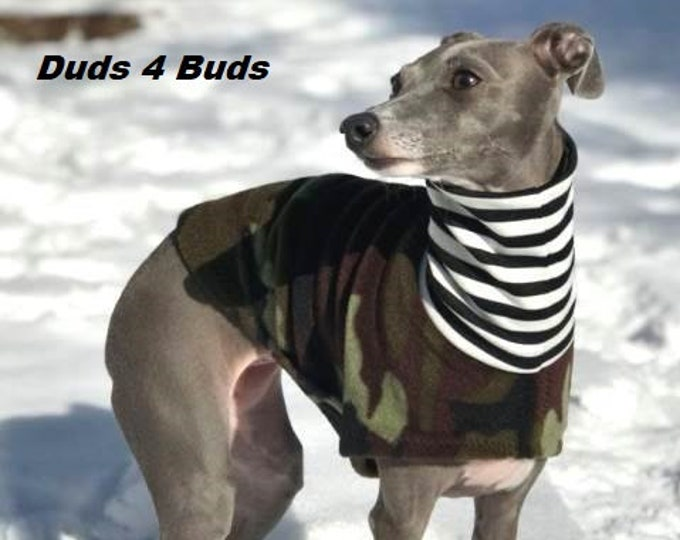Italian Greyhound Clothing - Camo Jacket - Coat for Italian Greyhound - Dog Clothing - Pet Clothing - Small Dog Clothes - Dog Jacket