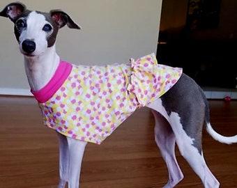 Italian Greyhound Clothing - Dog Clothing - Italy Greyhound - Ruffles & Dots Tee - Italian Greyhound Sizes