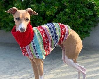 Italian Greyhound Clothing - Ugly Christmas Sweater for Dog - Small Dog Sweater - Small Dog Clothes - Dog Christmas