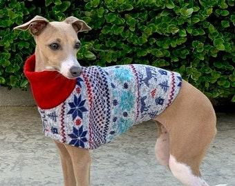 Italian Greyhound Sweater  - Winter Wonderland Sweater - Italian Greyhound Clothing - Small Dog Clothes - Small Dog Apparel - Iggy