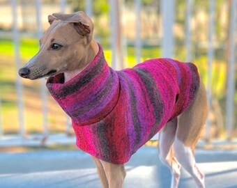 Italian Greyhound Sweater - Red Purple Tie Dye - Sweater for Dog - Small Dog Sweater - Small Dog Clothes - Pet Apparel - Small Dog Apparel