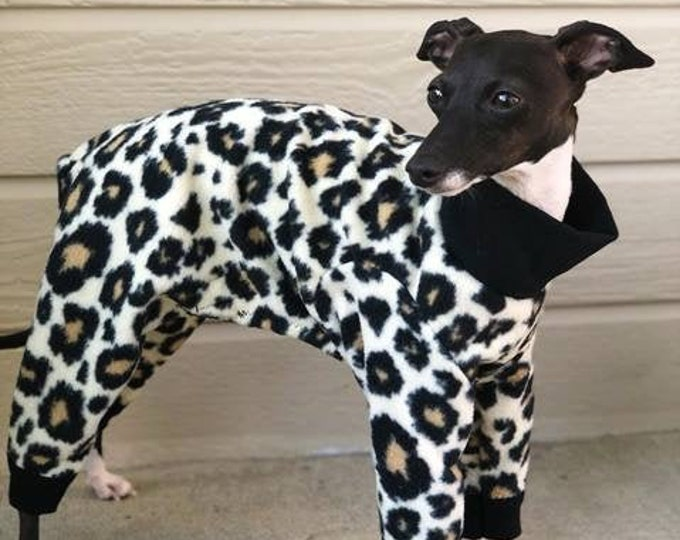 Pajama For Dog - Onesie for Dog - Dog Jumper - Original Cheetah - Italian Greyhound Clothing - Dog Pajama - Pet Pajamas - Small Dog Clothes