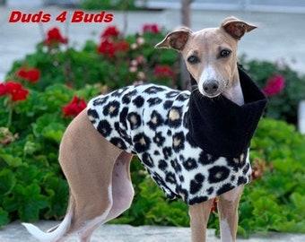 Italian Greyhound Clothing - Italian Greyhound Coat - Dog Clothing - Cheetah Vest- Pet Clothing - Small Dog Clothes - Dog Jacket