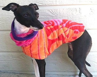 """Italian Greyhound Clothing.  """"Sherbet After Bath Jaket"""" - Italian Greyhound sizes"""