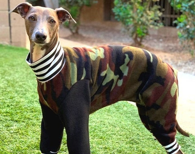 Dog Pajamas - Boy Dog Clothing - Camo - Italian Greyhound Clothing - Small Dog Clothes