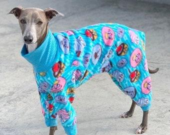 Italian Greyhound Clothing - Pajama For Dogs - Onesie for Dog - Happy Desserts