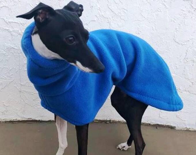 Italian Greyhound Coat - Italian Greyhound Clothing - Dog Coat - Blue Hoodie - Fleece Dog Coat - Dog Clothing - Dog Apparel - Coat for Dog