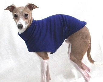 Italian Greyhound Clothing - Italy Greyhound - Dog Clothing - Dark Royal Blue Tee - Italian Greyhound Sizes