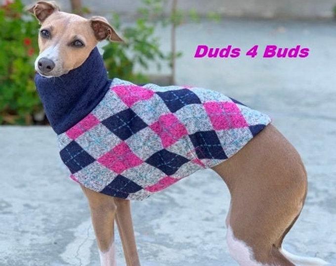 Italian Greyhound Clothing - Favorite Cardigan - Pet Clothing - Small Dog Clothes - Small Dog Apparel -  Girl Dog Clothes - Iggy