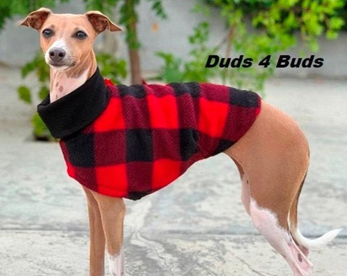 Italian Greyhound Clothing - Lumberjack Vest - Coat for Italian Greyhound - Italy Dog - Pet Clothing - Small Dog Clothes - Dog Jacket