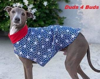 4th of July Tee - Italian Greyhound Clothing - Dog Clothing - Italy Greyhound - Patriotic Party Tee - Italian Greyhound Sizes
