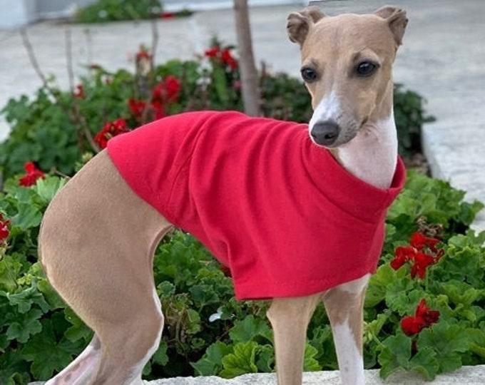 Italian Greyhound Clothing - Italy Greyhound - Dog Clothing - Small Dog Clothing - Tango Red Tee - Pet Clothing - Small Dog Clothing