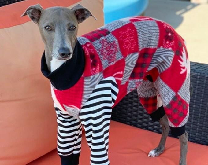 Dog Pajama - Christmas Pajama For Dog - Moose PJ - Italian Greyhound Pajama - Pet Pajamas - Onesie for Dog - Pet Clothing