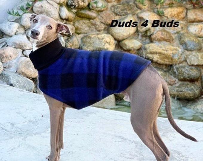 Italian Greyhound Clothing - Fleece Coat for Dog - Vest for Italian Greyhound - Blue Buffalo - Italy Dog - Pet Clothing - Small Dog Clothes