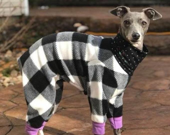 Italian Gryehound Clothing - Pajama For Dogs - Lumberjack - Italy Greyhound Clothing - Small Dog Clothes - Doy Dog Clothing -Onesie for Dog
