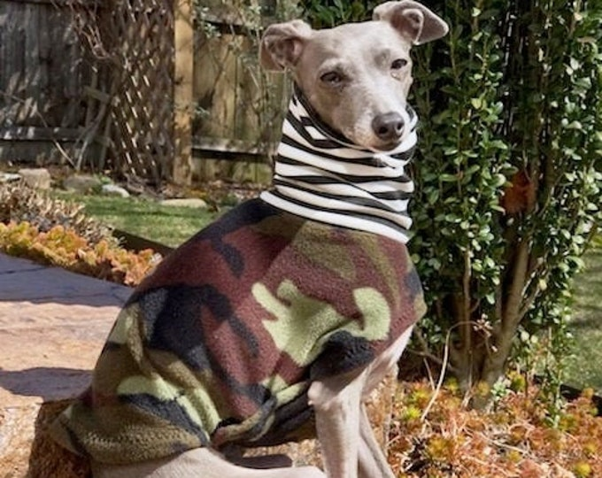 Italian Greyhound Clothing - Camo Vest - Coat for Italian Greyhound - Dog Clothing - Pet Clothing - Small Dog Clothes - Dog Jacket