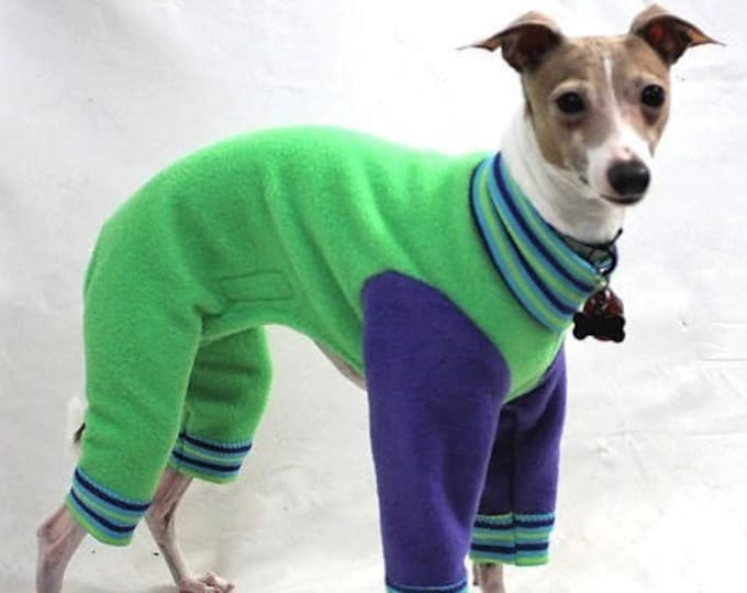 "Dog Pajamas.  ""Green Apple Jams"" - Italian Greyhound and small dog sizes"