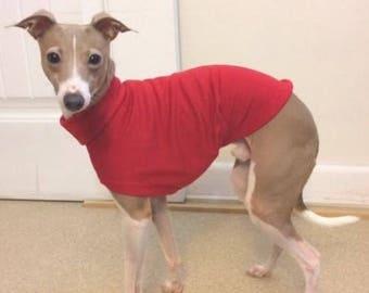 Italian Greyhound Clothing. Tango Red Tee.  Italian Greyhound Coat. Dog Clothing. Pet Clothing. Small dog clothes. Iggy. Dog Jacket.