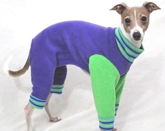 Dog Pajamas - Purple Apple Jams  - Italian Greyhound and Small Dog Clothes