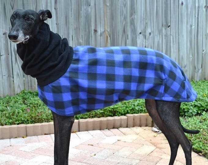 "Greyhound Coat. ""Lumber Jack Plaid Cocoon Coat"" - Greyhound Sizes"