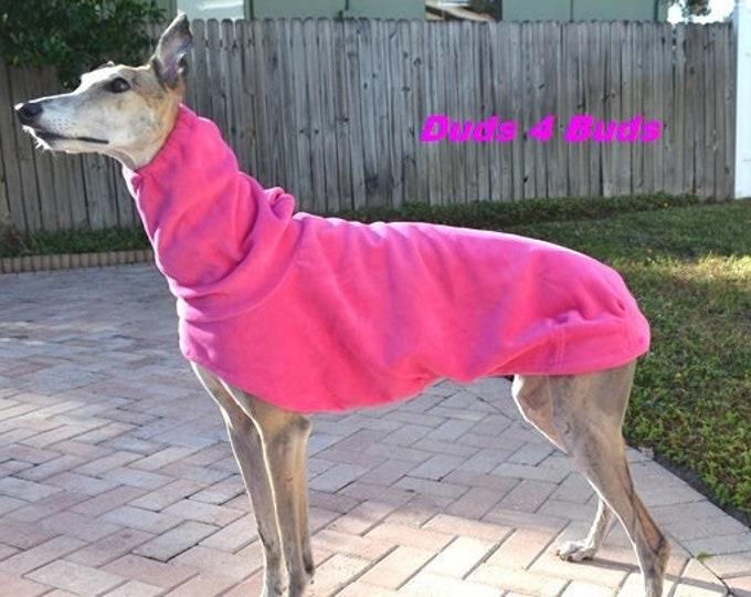 Greyhound Coat - Fuchsia Hoodie - Winter Coat for Greyhound - Fleece Coat for Greyhound - Greyhound Sizes