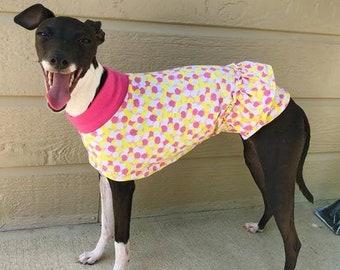"Italian Greyhound Clothing. ""Ruffles & Dots Tee"" - Italian Greyhound Sizes"