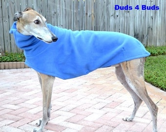 Greyhound Coat - Blue Dog Coat - Dog Jacket - Pet Clothing - Fleece Coat For Greyhound - Jacket for Greyhound - Greyhound Clothing