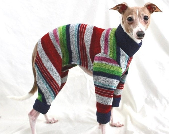 Pajamas for Dogs - Multi-Stripe - Pet Pajamas - Dog Clothes - Small Dog Clothes - Pet clothing - Onesie for Dog - Dog Jumper