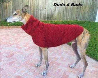 Greyhound Sweater - Greyhound Clothing - Red - Greyhound Sizes