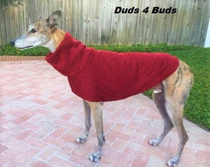 Greyhound Sweater - Greyhound Clothing - Red - Greyhound Sizes