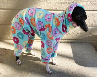 Italian Greyhound Clothing - Onesie for Dog - Donut Pajama for Dog - Italy Greyhound - Dog Winter - Iggy Clothing - Italian Greyhound