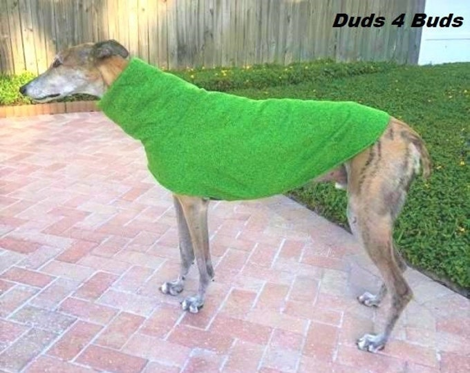 Greyhound Sweater - Green - Greyhound Clothing - Sweater for Dog - Greyhound Sizes