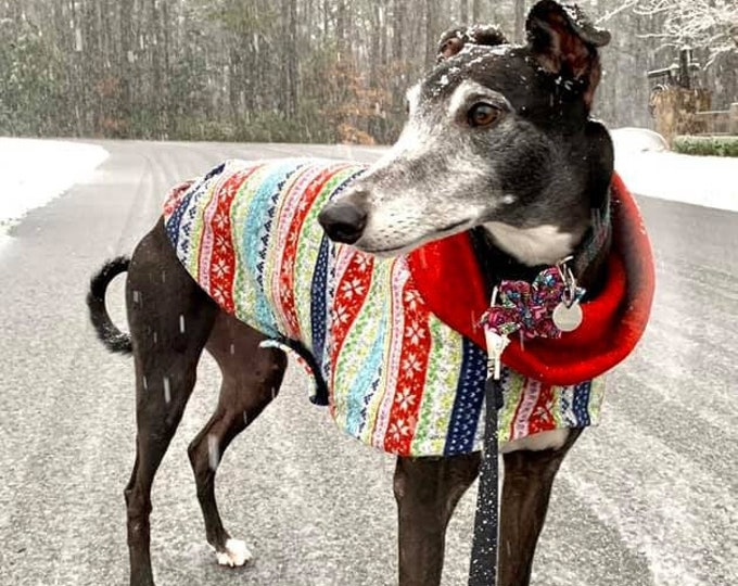 "Greyhound Sweater - ""Ugly Christmas Sweater"" - Greyhound Clothing - Sweater for Greyhound - Greyhound Sizes"