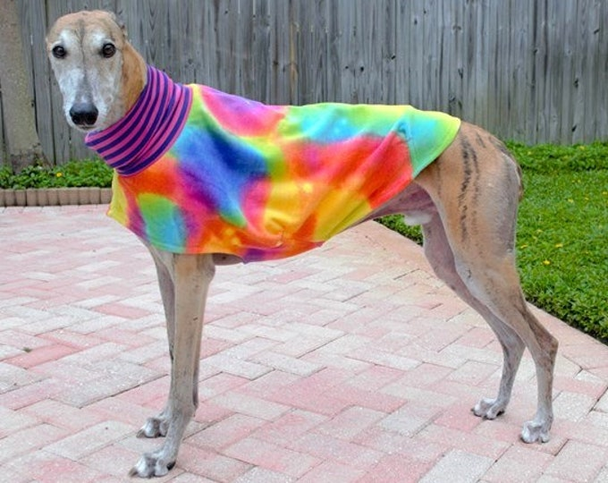 Greyhound Clothing -  Greyhound Duds - Tie Dye Daycoat/Jammie - Greyhound Sizes - Coat for Greyhound