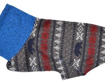 "Greyhound Sweater. ""Blue Bear Sweater"" - Greyhound Sizes"