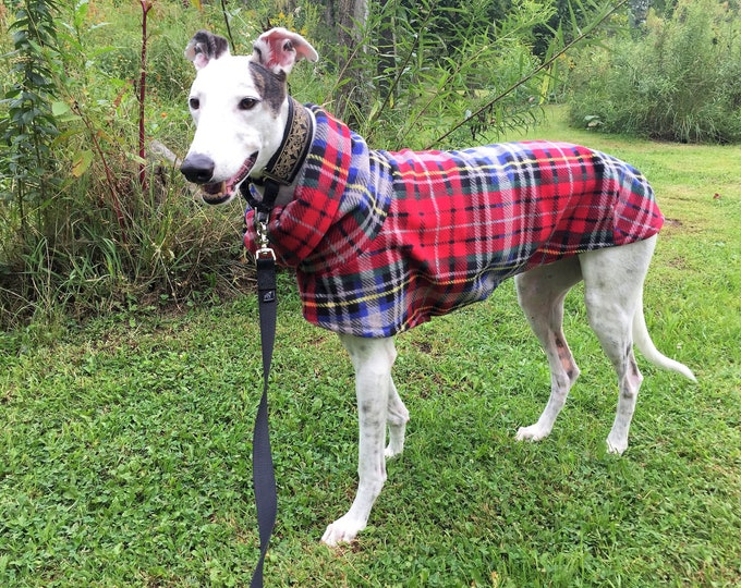 "Greyhound Coat. ""Heavy-Weight London Plaid Cocoon Coat"" - Greyhound Sizes"