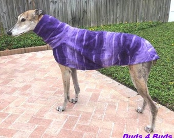 Greyhound Coat - Jacket for Greyhound - Purple Swirl - Greyhound