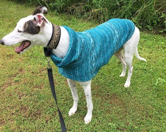 "Greyhound Sweater. ""Teal Aztec"" - Greyhound Sizes"
