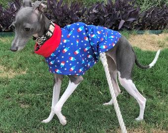 "Italian Greyhound Clothing. Italian Greyhound Tee. ""Patriotic Popsicles"" - Italian Greyhound Sizes"