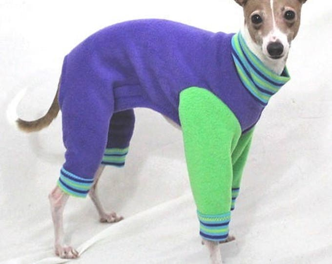 "Dog Pajamas.  ""Purple Apple Jams"" - Italian Greyhound and small dog sizes"
