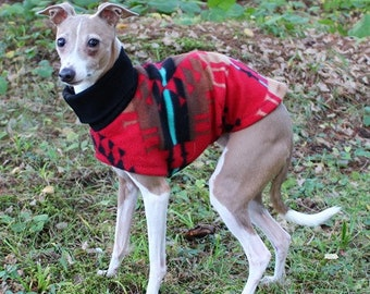 Italian Greyhound Clothing. Red Moondance. Italian Greyhound Coat. Dog Clothing. Pet Clothing. Small dog clothes. Dog Jacket. Dog Coat