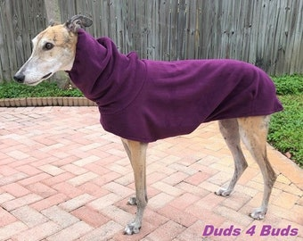 Greyhound Coat - Heavy Plum Cocoon Coat - Winter Coat For Greyhound - Greyhound Sizes
