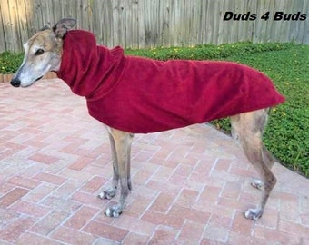 Greyhound Coat - Winter Coat For Greyhound - Rhubarb Red Cocoon -  Greyhound Sizes