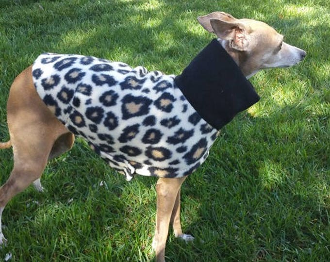 Italian Greyhound Clothing - Italian Greyhound Coat - Dog Clothing - Cheetah - Pet Clothing - Small Dog Clothes - Dog Jacket