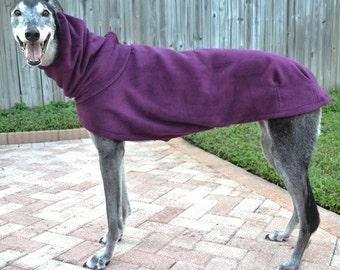 """Greyhound Coat. """"Heavy Plum Cocoon Coat"""" - Greyhound Sizes"""