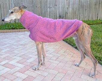 """Greyhound Sweater. """"Heathered Pink"""" - Greyhound Sizes"""